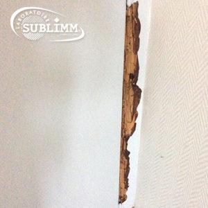 Détection de termites - Encadrement de porte abimé